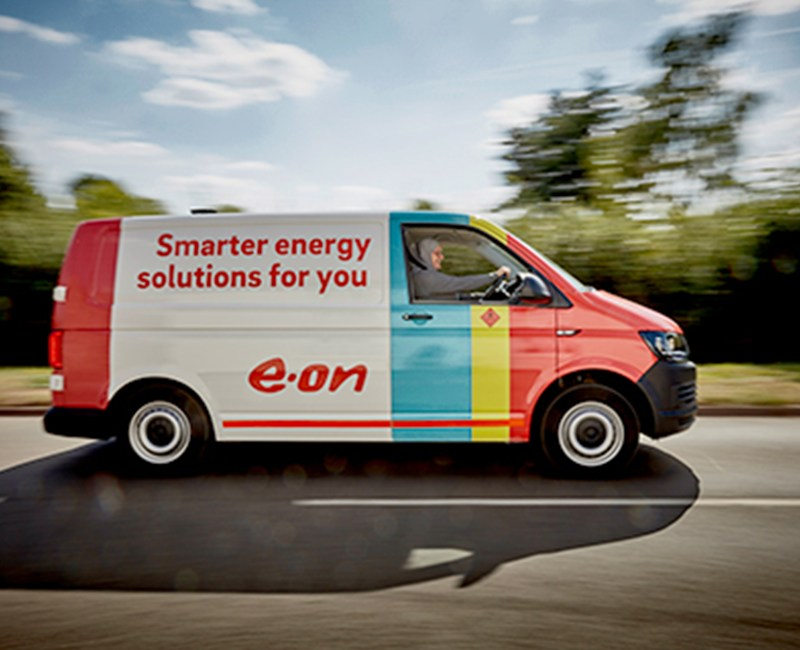 EON Van using trakm8 fleet management