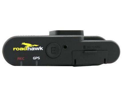 RoadHawk DC-2 dash cam with SD card reader
